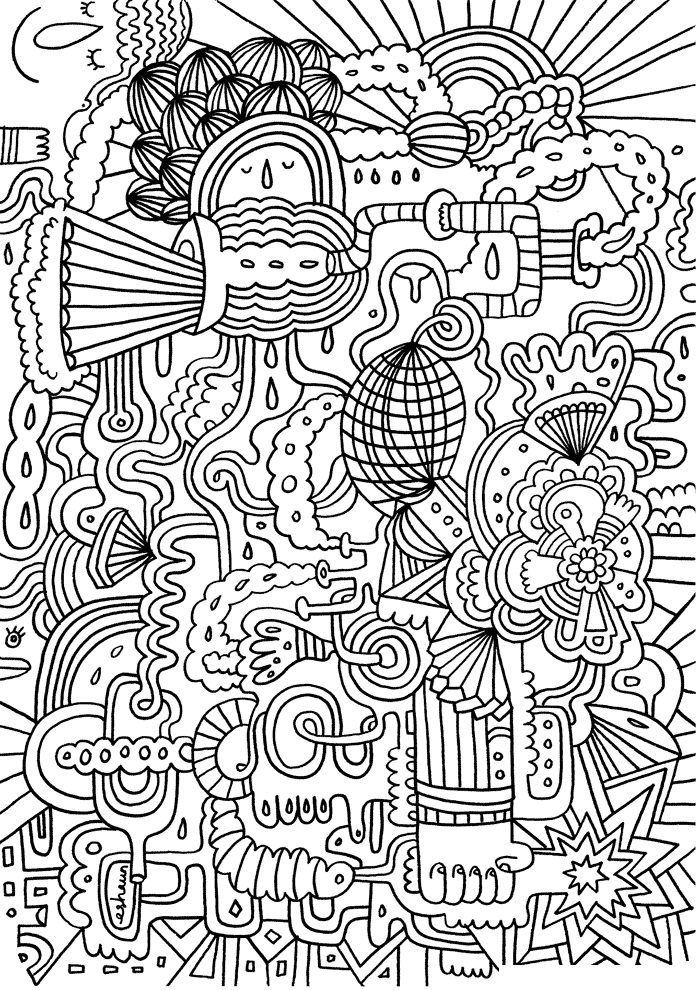 Hard Pattern Coloring Page