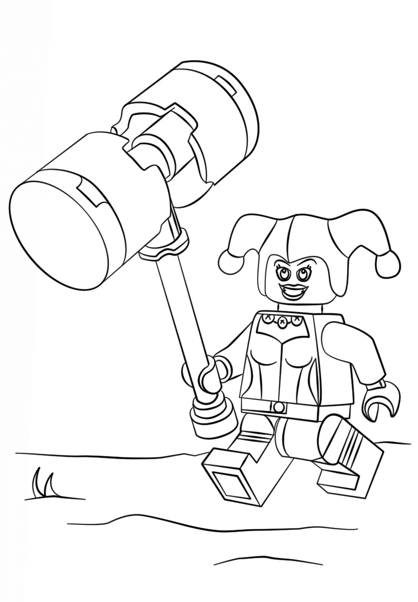 Harley Quinn from The LEGO Batman Movie Coloring Page