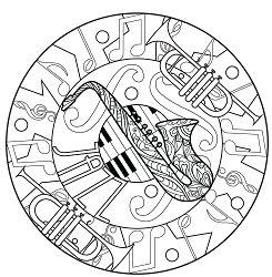 Harmonious Jazz Mandala