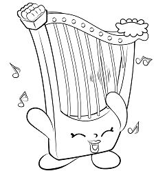 Harp Musical Instrument Shopkins
