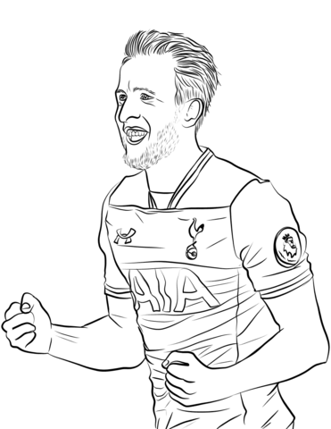 Harry Kane-image 1 Coloring Page