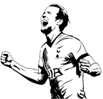 Kleurplaat Ajax Logo Harry Kane Coloring Pages Coloringpagesonly Com