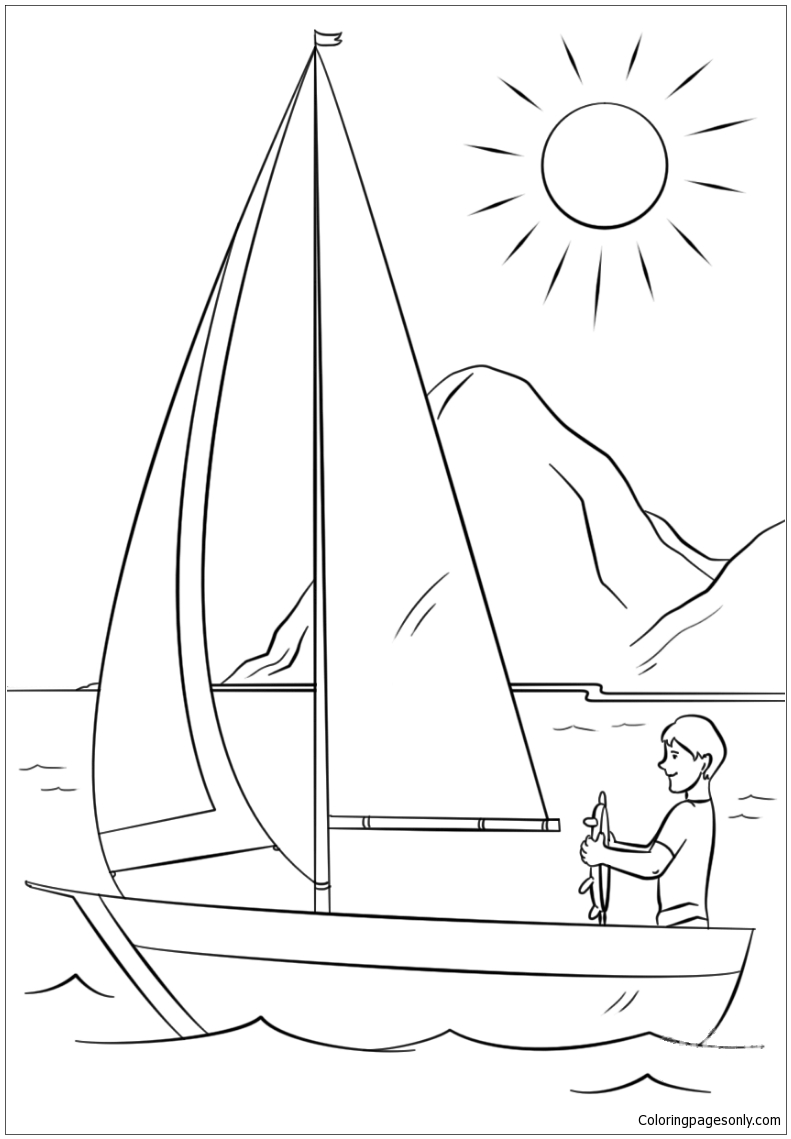 Have A Great Summer Coloring Page