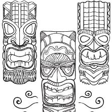 Hawaiian Tiki Masks 2