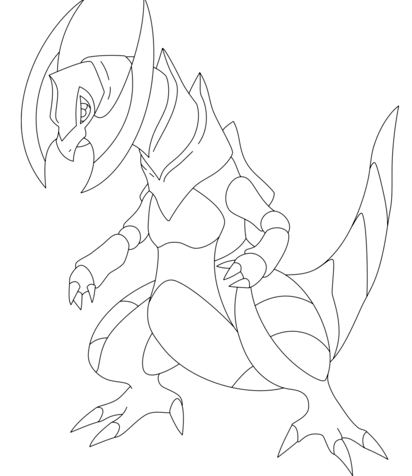 Haxorus Pokemon Coloring Page