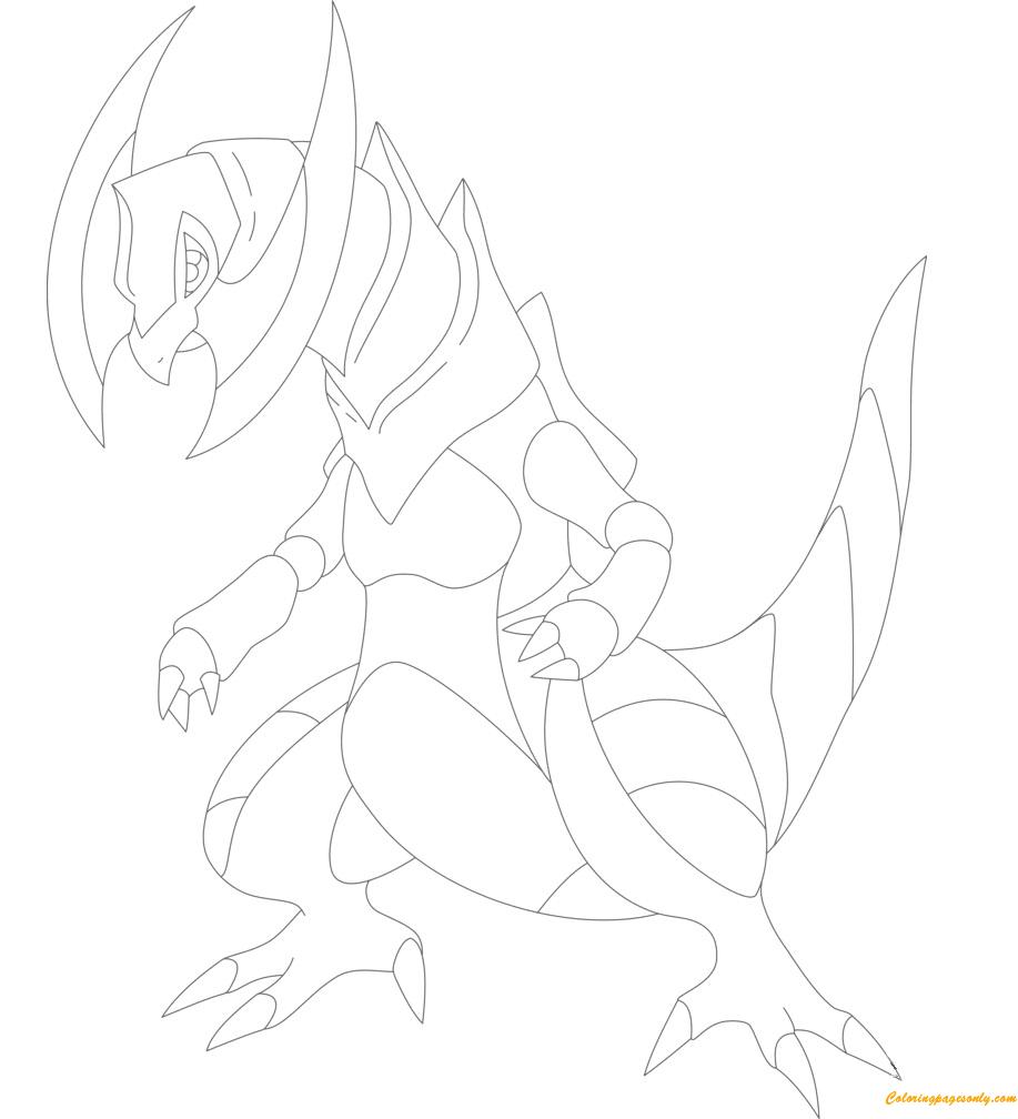 Haxorus Pokemon Coloring Page