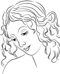 Head of a Woman by Leonardo da Vince
