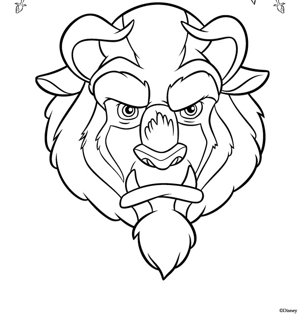 Head of Beast Coloring Page