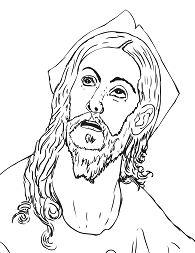 Head of Christ by El Greco Coloring Page