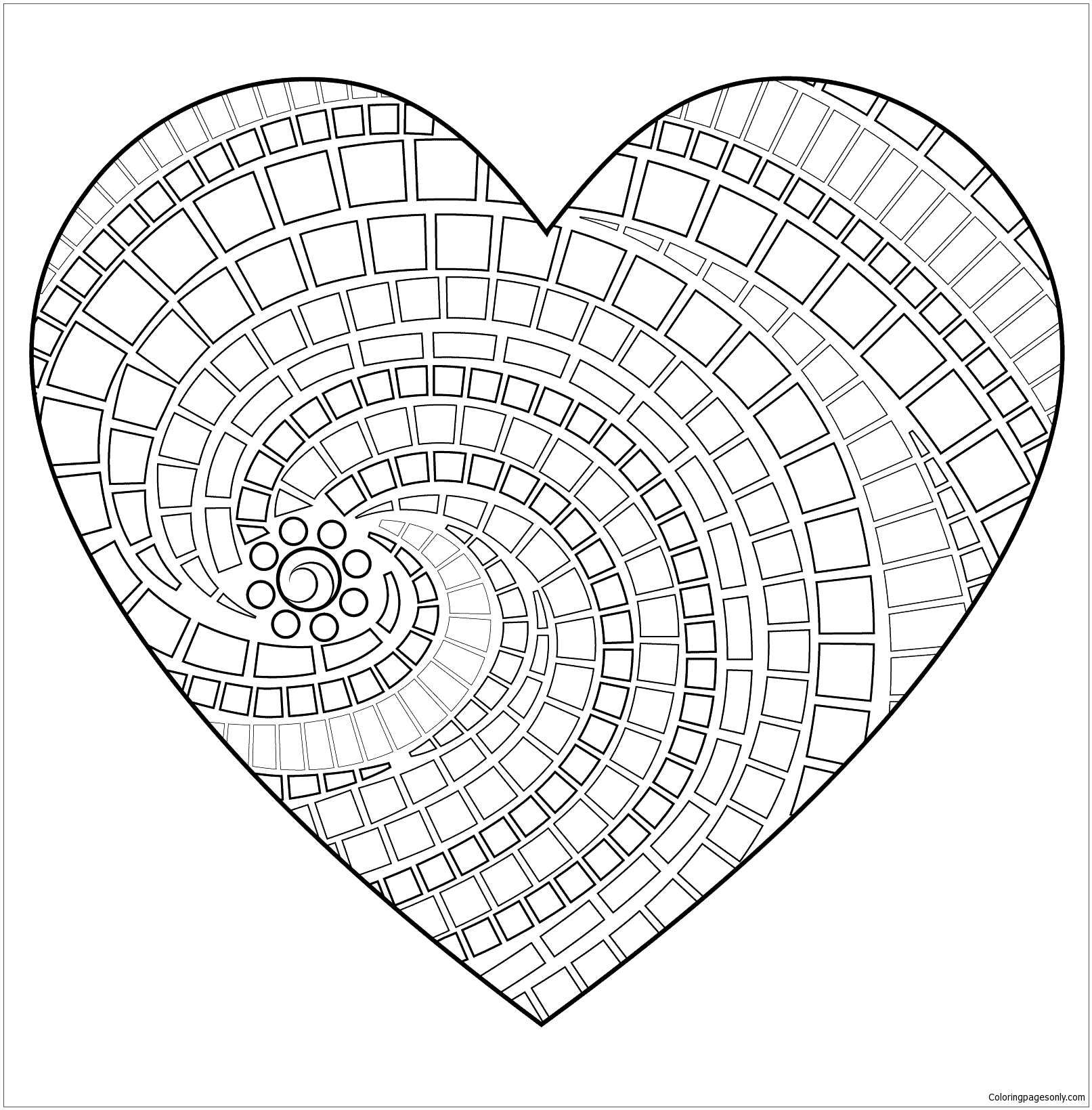 - Heart Mandala Coloring Page - Free Coloring Pages Online
