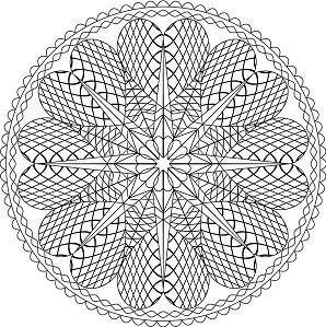 Heart Shaped Mandala