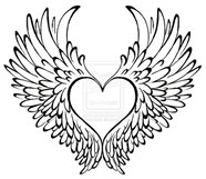 Heart With Wings Tattoo Coloring Page