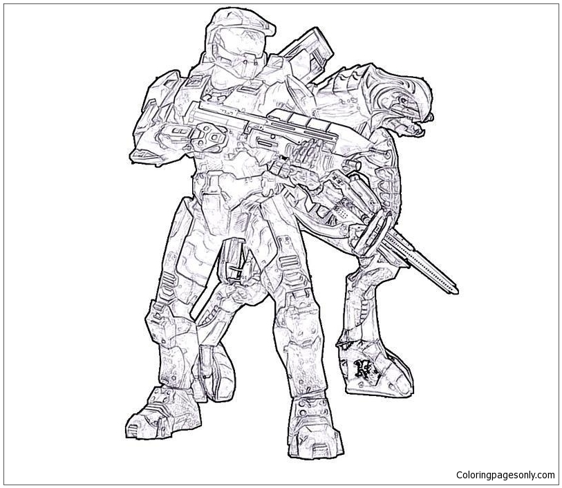 Insider Halo Spartan Coloring Page - Free Coloring Pages Online | 706x813