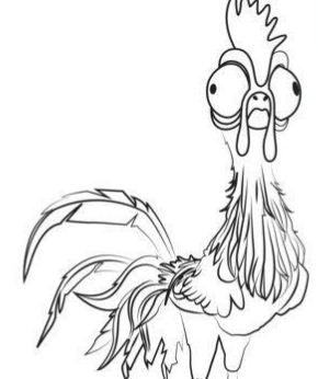 Heihei From Moana Disney Coloring Page