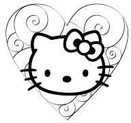 Hello Kitty 36 Coloring Page