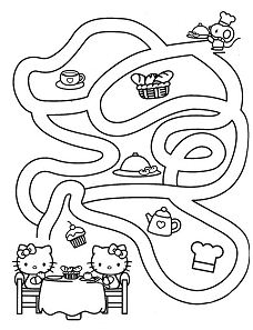 Hello Kitty activity sheet-maze