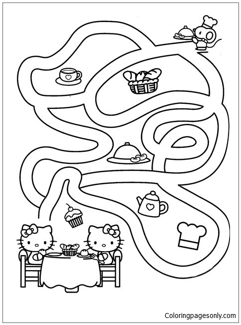 Maze 47 Coloring Page - Free Mazes Coloring Pages ...   651x483