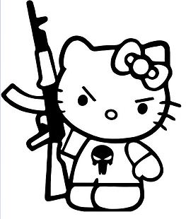Hello Kitty AK Machine Gun Punisher
