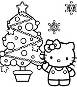 Hello Kitty And Christmas Tree