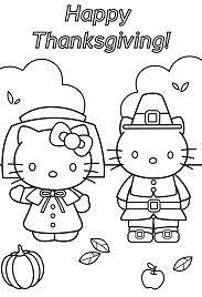 thanksgiving teddy bear coloring pages | Hello Kitty And Teddy Bear Coloring Page - Free Coloring ...
