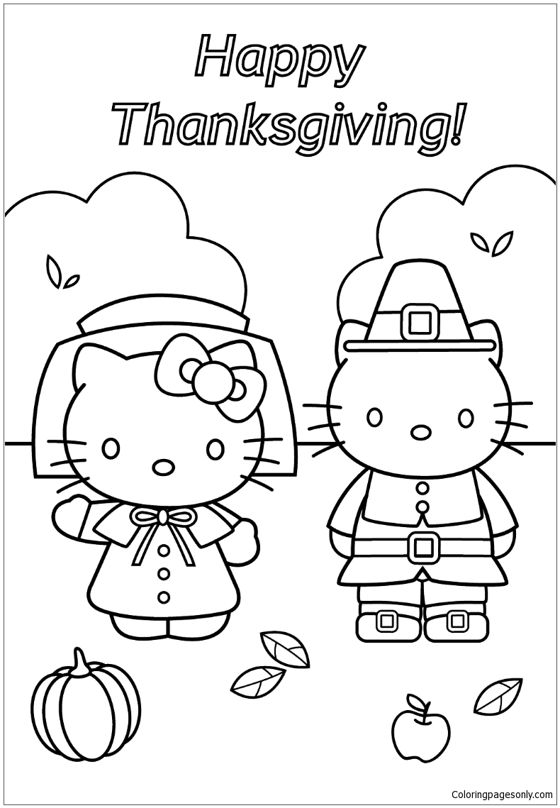 Hello Kitty And Dear Daniel Thanksgiving Coloring Pages Cartoons Coloring Pages Free Printable Coloring Pages Online