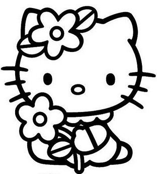 Hello Kitty And Flower