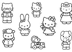 Hello kitty and friends 1