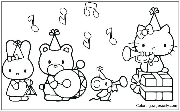 Hello Kitty And Friends 2 Coloring Pages