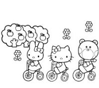 Hello Kitty And Friends Cycling
