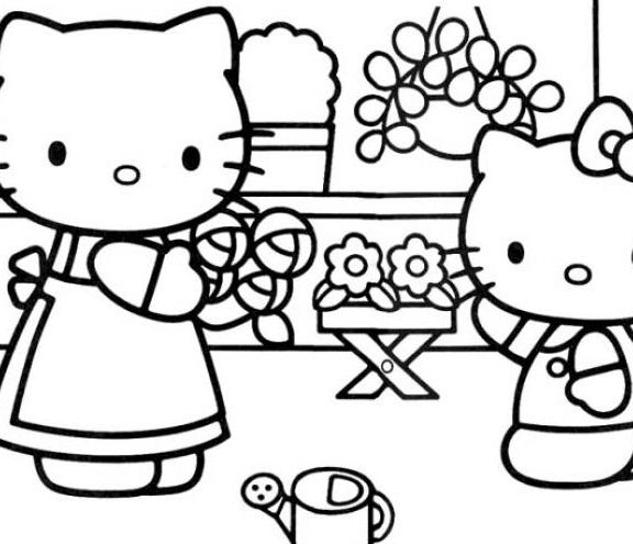Hello Kitty And Her Mother Care Flower