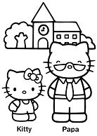 Hello Kitty and Papa