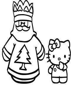 Hello Kitty And Santa Claus