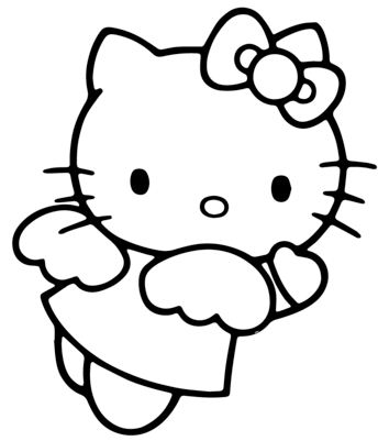 Hello Kitty Angel Coloring Page