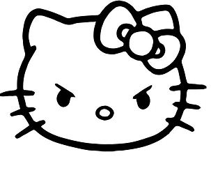 Hello Kitty Angry Face