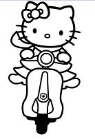 Hello Kitty as an Emo or a Punk Coloring Page