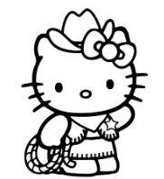 Hello Kitty As Cow Boy