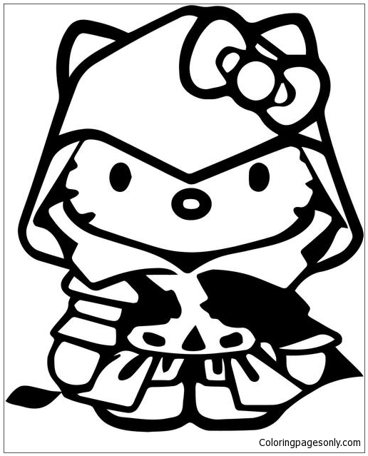Hello Kitty Assassins Creed Coloring Pages Cartoons Coloring Pages Free Printable Coloring Pages Online