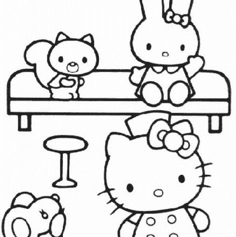 hello and two friends coloring page free coloring pages. Black Bedroom Furniture Sets. Home Design Ideas