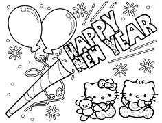 Hello Kitty Baby Happy New Year 2019