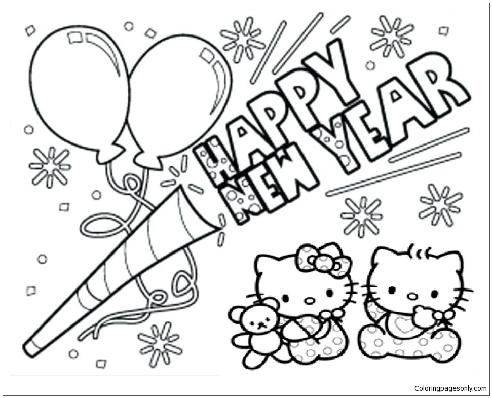 Happy New Year Coloring Pages Free Printable | Paper Trail Design | 785x971