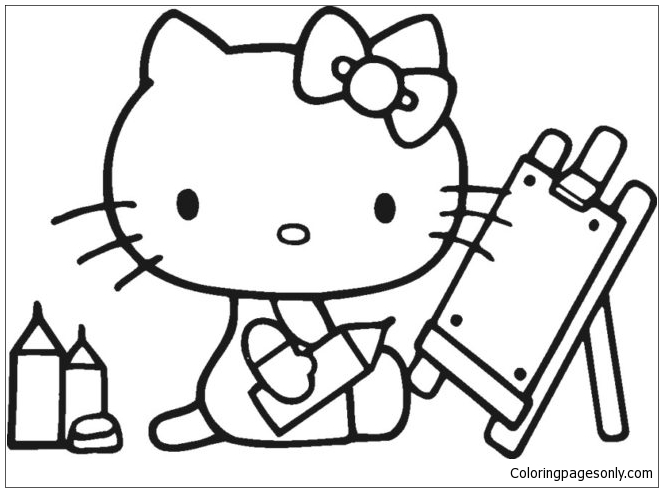 Hello Kitty Back To School 1 Coloring Page