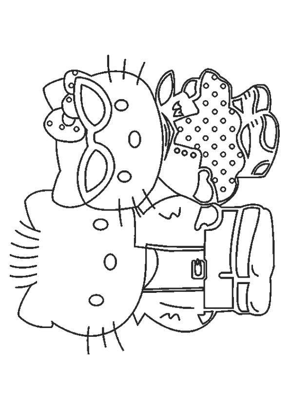 Hello Kitty Best Friends Forever Coloring Page Free