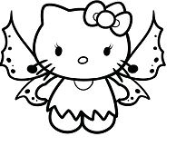 Hello Kitty Butterfly Coloring Page