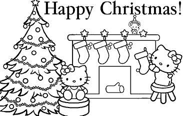 Hello Kitty Christmas 1 Coloring Page