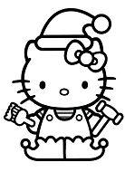 Hello Kitty Christmas 2 Coloring Page
