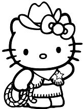 Hello Kitty Country Cowboy