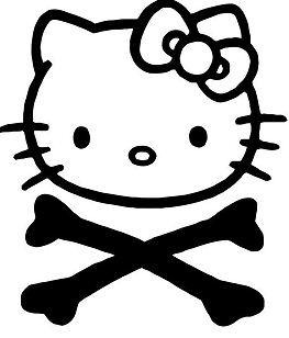 Hello Kitty Crossbones