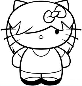 Hello Kitty cute 12 Coloring Page