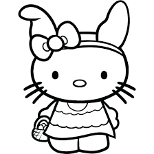 Hello Kitty Cute 17 Coloring Page