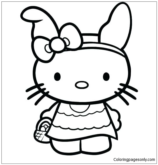 Hello Kitty Cute 17 Coloring Pages